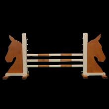 Springbane til børn - Brun hest, 1 stk.