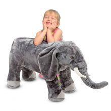 Tøjdyr i plys - Elefant