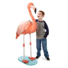 Tøjdyr i plys - Flamingo