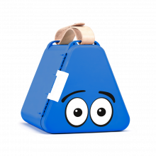 Teebee opbevaringsboks inkl. tegnegrej - Blå