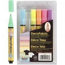 Tekstiltusser - Neonfarver, 6 stk