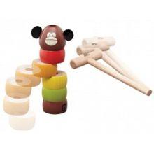 Trælegetøj - Slå til aben
