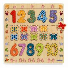 Træpuslespil med tal