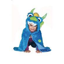 Udklædning - Kappe, blåt monster