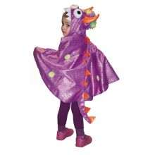 Udklædning - Kappe, lilla drage