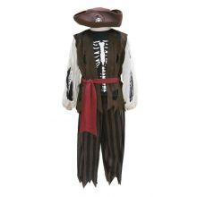 Udklædning - Pirat med bukser, vest og hat