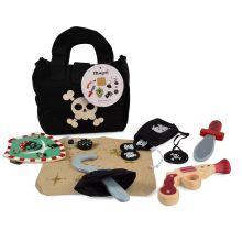 Udklædning - Piratsæt i taske, 8 dele
