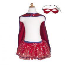 Udklædning - Superheltinde med skørt og maske