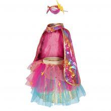 Udklædning - Superheltinde pink, str. 4-6 år