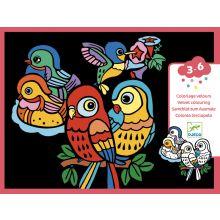 Velourmaling - Fugle