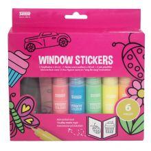 Windowsstickerskit - 6 farver og skabelonhæfte