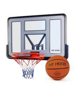 Basketkurv Pro på plade inkl. bold - My Hood