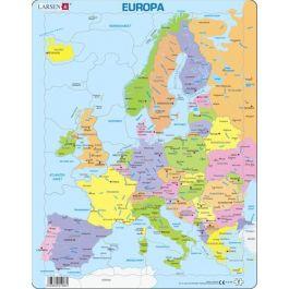 Politisk Kort Over Europa Standardformat 136 X 100cm Kontinent