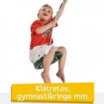 Klatretov, gymnastikringe m.m.